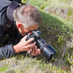 Trip participant and nature photographer Gert Huijzers (The Netherlands) in action - Torres del Paine NP, Chilean Patagonia. © Claudio F. Vidal, Far South Expeditions - www.farsouthexpeditions.com